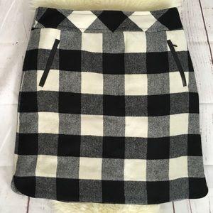 Talbot's Wool Blend Gingham Skirt